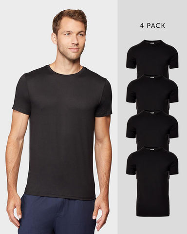 MEN'S 4 PACK COOL CREW NECK TEE