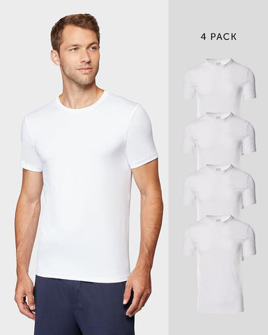 MEN'S 4 PACK COOL CREW NECK T-SHIRT