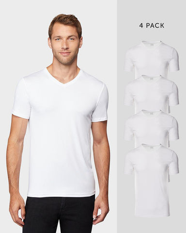 MEN'S 4 PACK COOL V-NECK TEE
