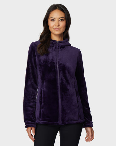 WOMEN'S LUXE FUR HOODED FULL-ZIP