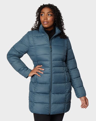 WOMEN'S SHIELD TECH LONG POLY-FILL JACKET