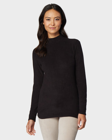 WOMEN'S HEAVYWEIGHT FLEECE BASELAYER MOCK TOP