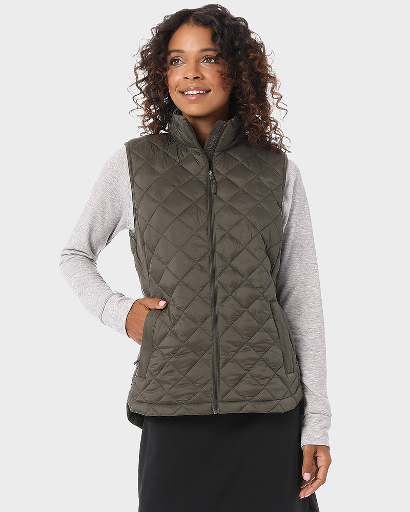 32 Degrees Women's Lightweight Recycled Poly-fill Diamond Quilt Vest