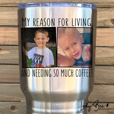 Custom 30oz Photo Tumbler - LadyBee Boutique Mugs