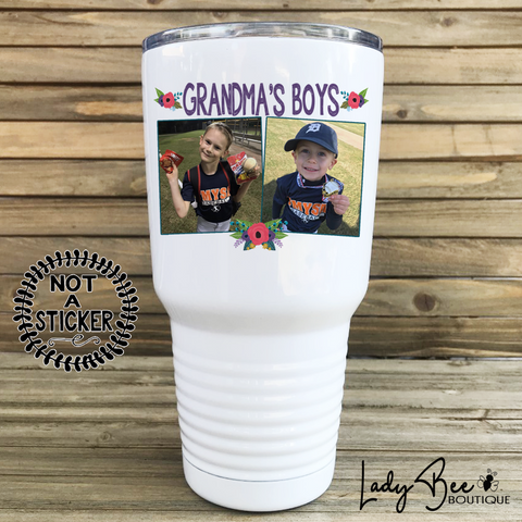 Grandma's Boys, 30oz Photo Tumbler