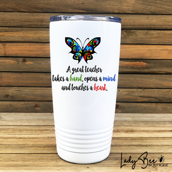 Autism Awareness Teacher Appreciation Tumbler - LadyBee Boutique Mugs