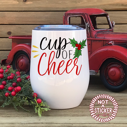 Cup of Cheer, Wine Tumbler - LadyBee Boutique Mugs