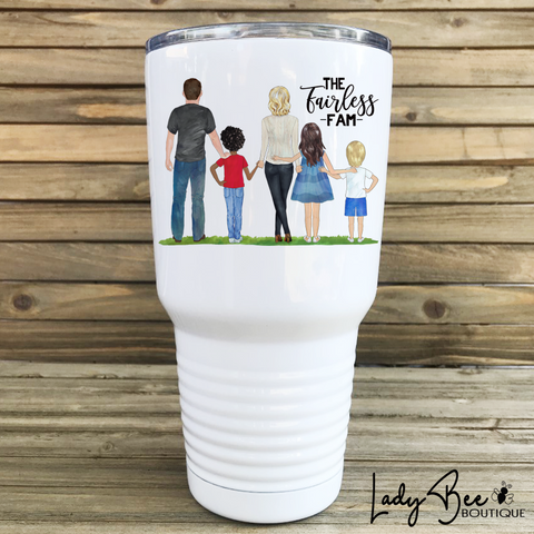 Family Portrait Tumbler - LadyBee Boutique Mugs