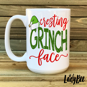 Resting Grinch Face Christmas Mug - LadyBee Boutique Mugs