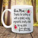 Dear Mom, Your favorite - LadyBee Boutique Mugs