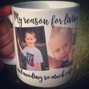 Photo Mug, Mom mug, Dad Mug - LadyBee Boutique Mugs