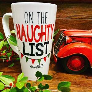 On The Naughty List Mug - LadyBee Boutique Mugs