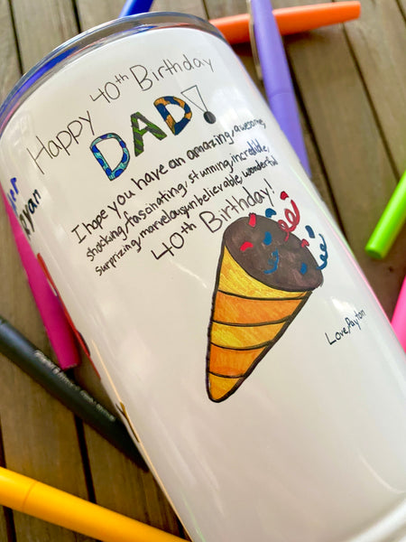 Photo Tumbler with Kid's Artwork