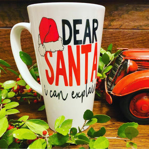 Dear Santa I Can Explain Mug - LadyBee Boutique Mugs