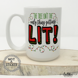 Getting Lit Christmas Mug - LadyBee Boutique Mugs