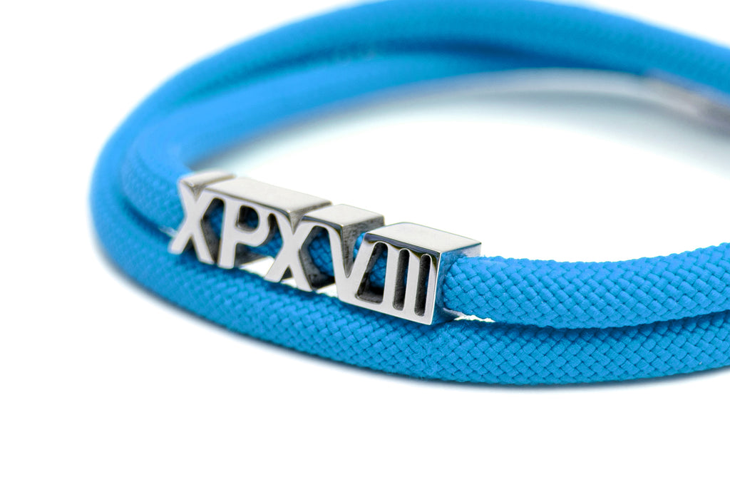 'XPX XPXVIII. DOUBLE LOOP BRACELET IN BLUE