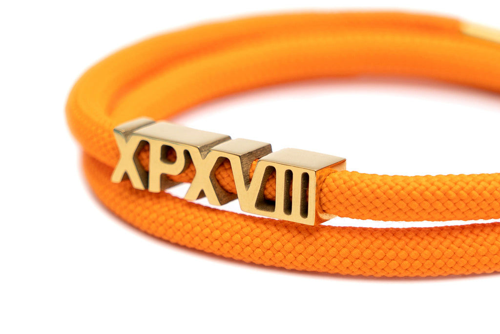 'XPX XPXVIII. DOUBLE LOOP BRACELET IN ORANGE