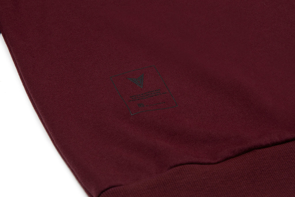 XPX 'STATUE FACE' BOX LOGO BURGUNDY CREW NECK SWEATER