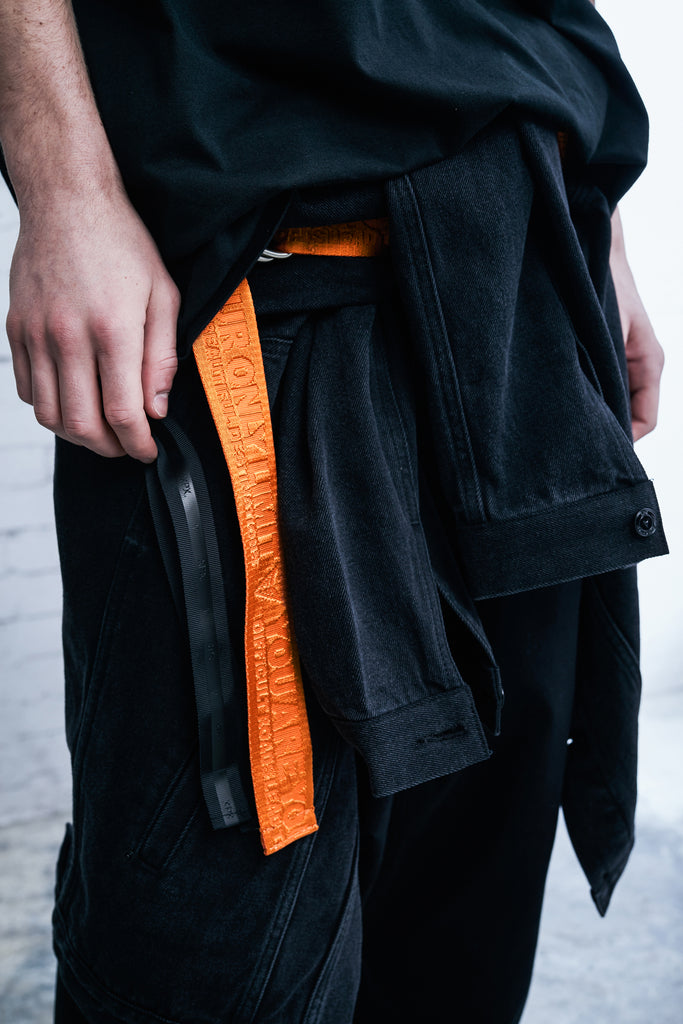 XPX 'YOUR ARE YOUR ONLY LIMIT' ORANGE WOVEN BELT