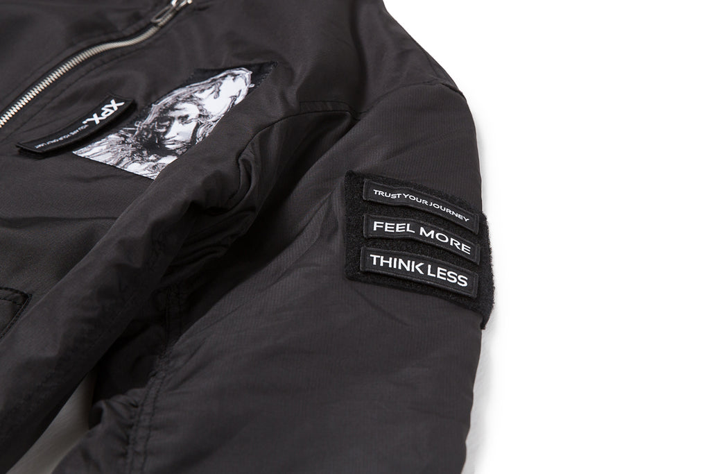 XPX MULTI PATCHES BLACK ARMY JACKET