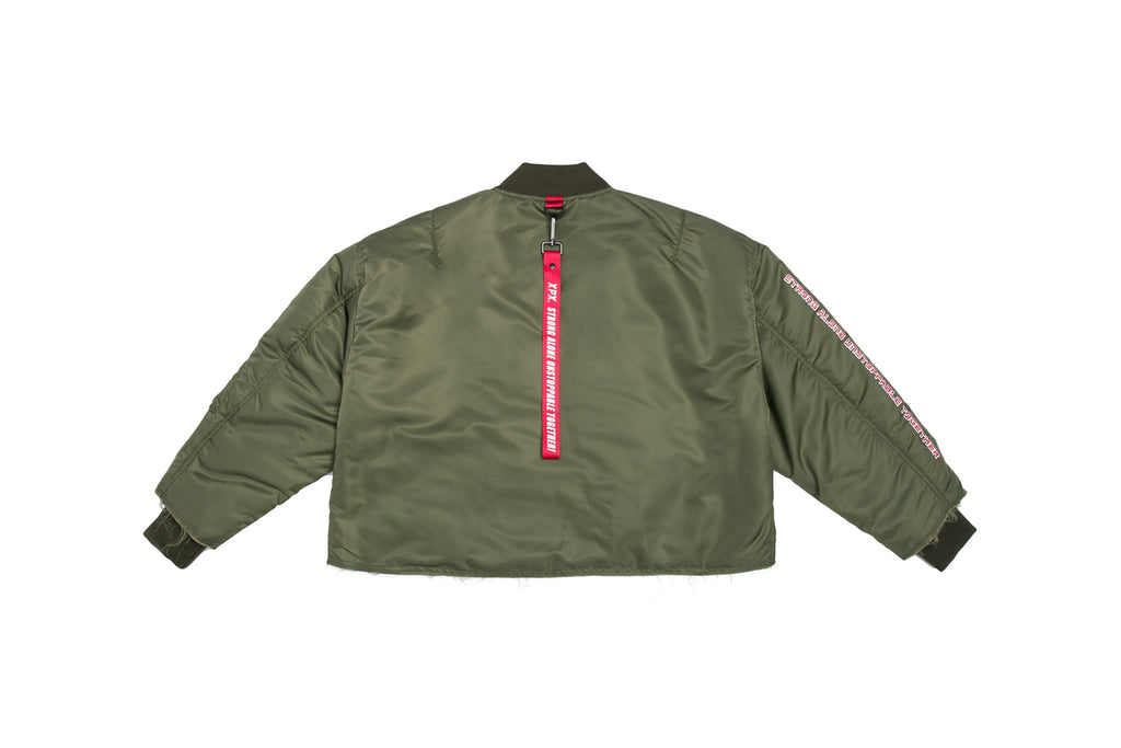 'XPX CROPPED ARMY JACKET