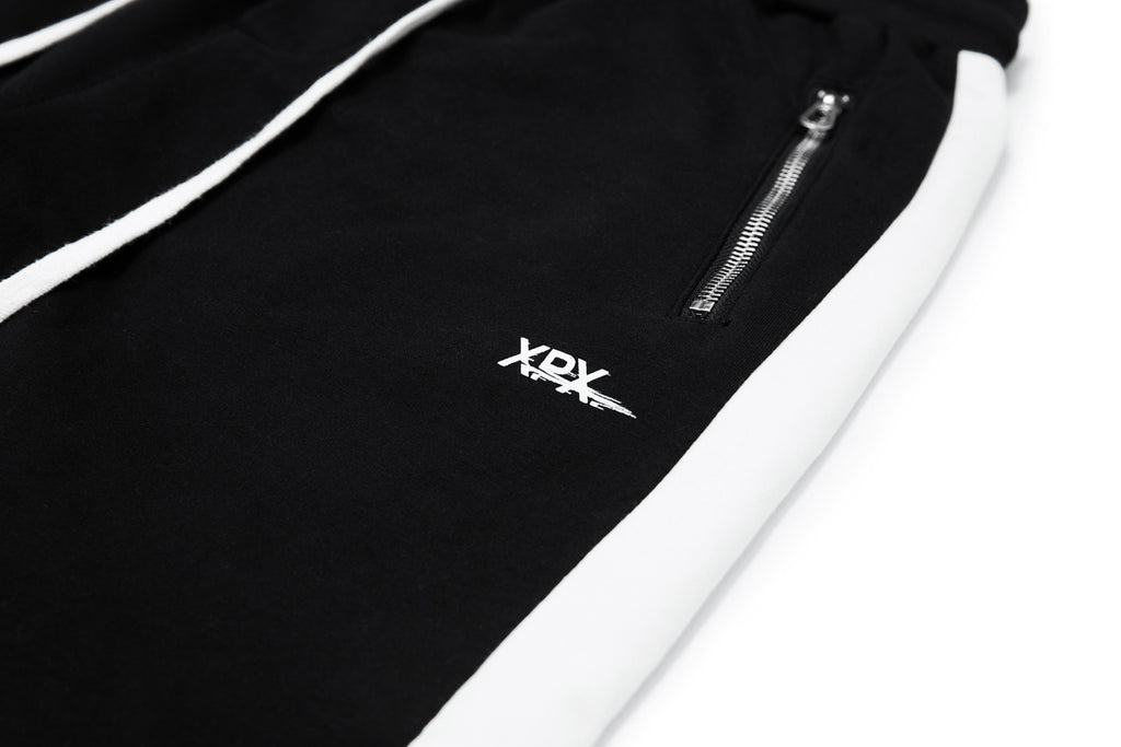 'XPX WHITE HIGHLIGHT SLIM CUT TRACK PANTS