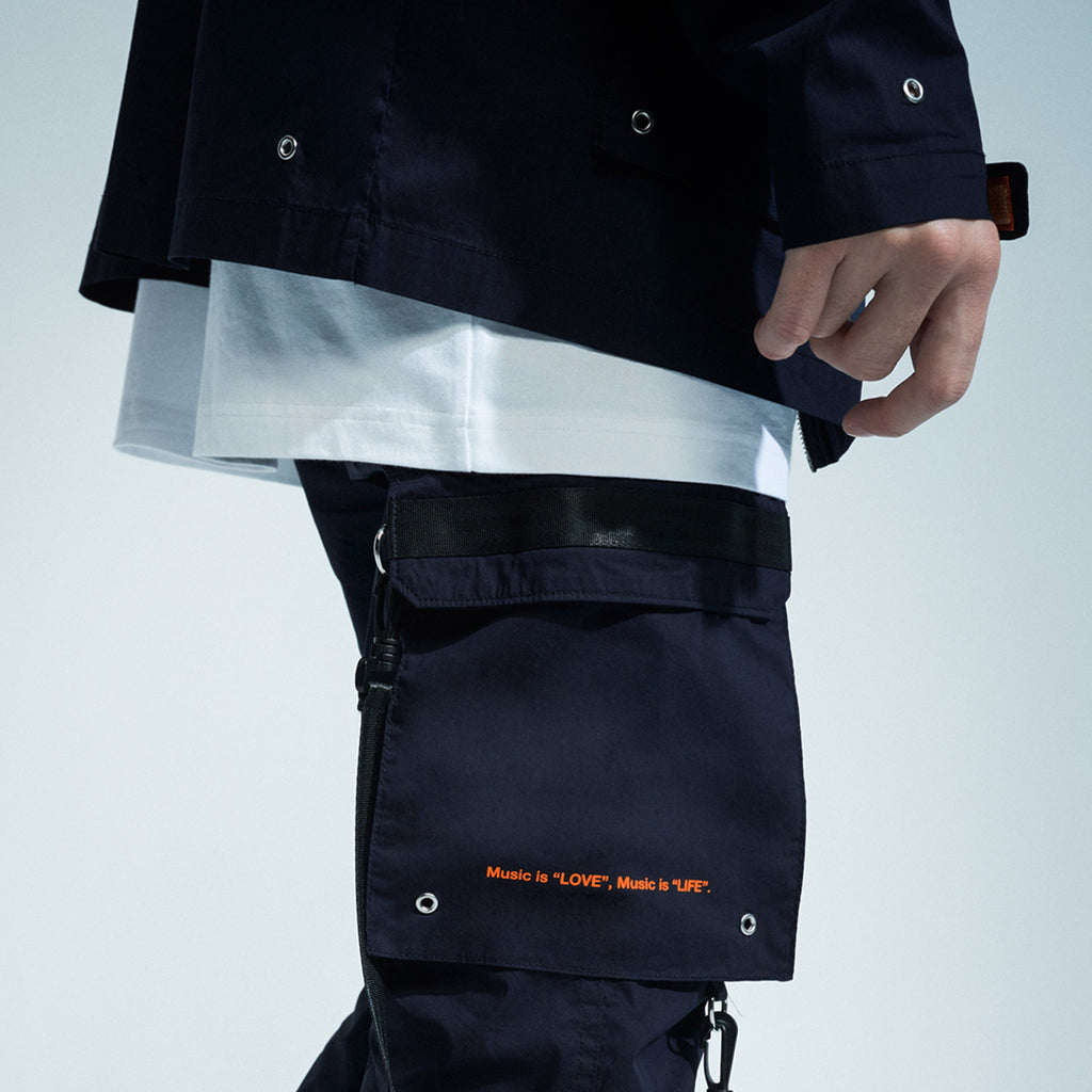 'XPX DOUBLE BELT PANTS