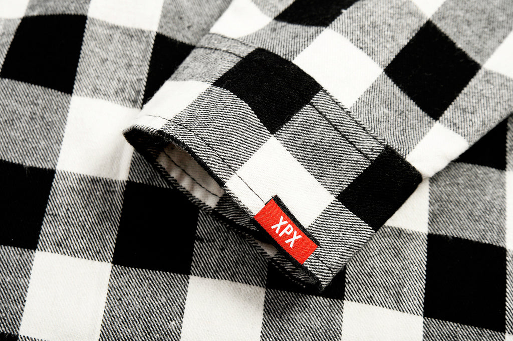 XPX GRAFFITI PRINT CHECK SHIRT