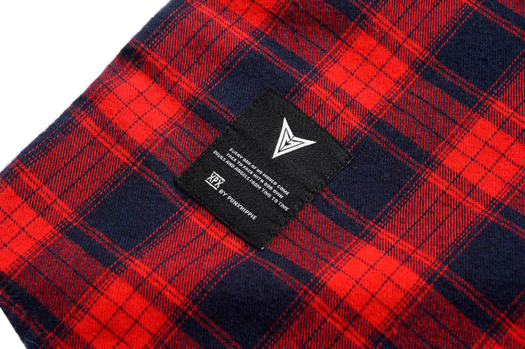 XPX LONG CUT RED CHECK SHIRT