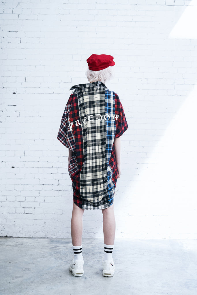 XPX MIXED CHECKS SHORT SLEEVE SHIRT