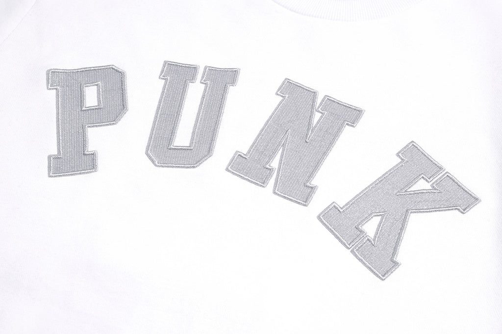 XPX PUNK EMBROIDERY WHITE SWEATER