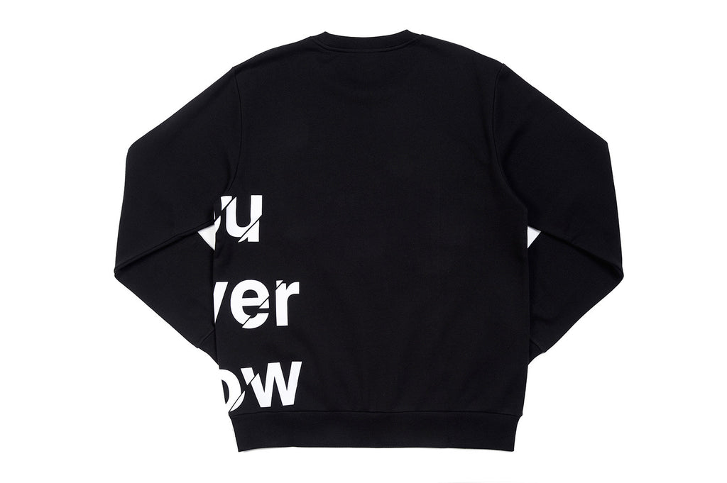 "XPX ""YOU NEVER KNOW"" CREW NECK SWEATER"