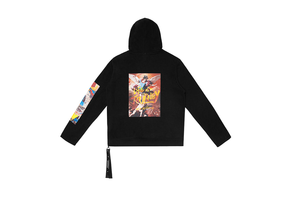 'XPX 'LIFE IS A JOURNEY' PAINTING BLACK HOODIE