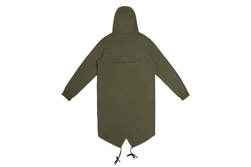 'XPX PARKER SWEAT JACKET IN ARMY GREEN