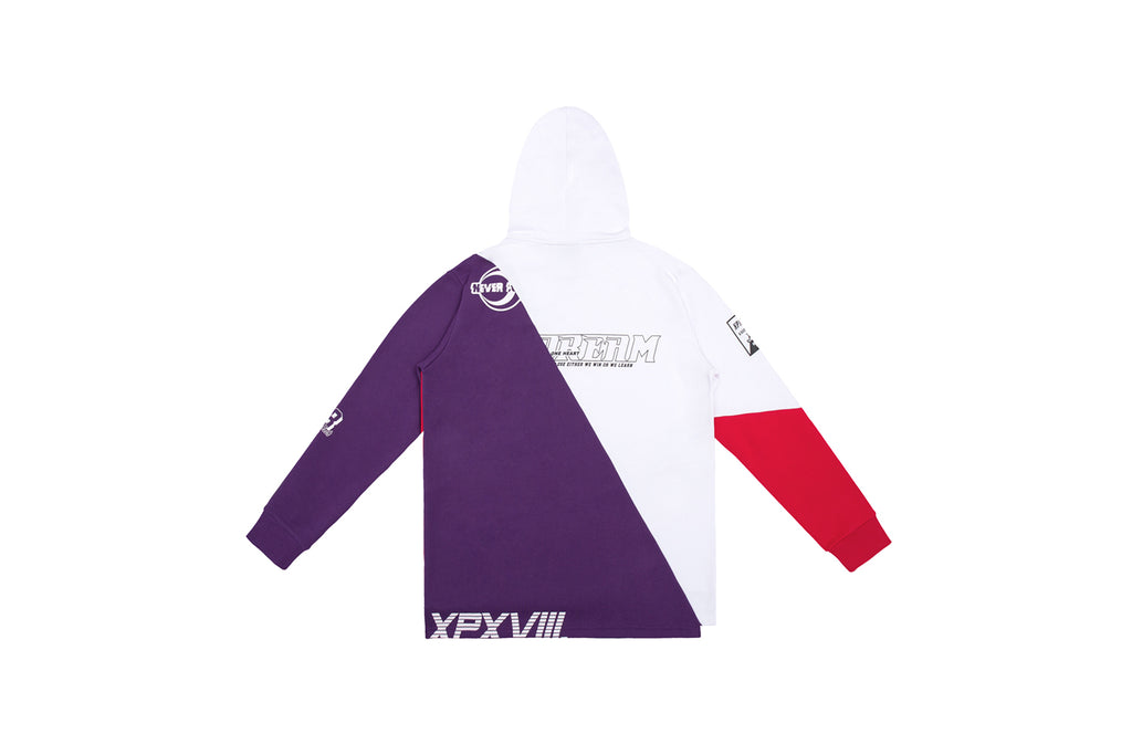 XPX PATCHED WHITE HOODED SWEATER