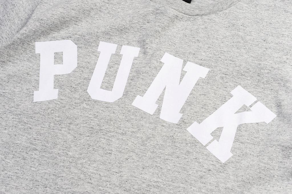 XPX PUNK PRINT GREY CREW NECK TEE