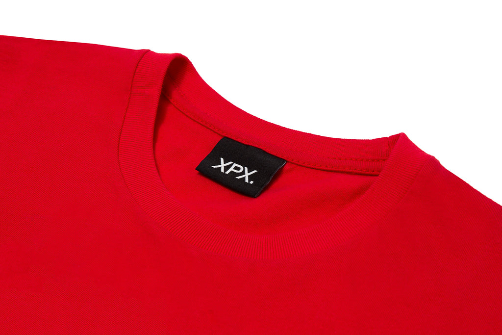 'XPX STATUE OUTLINE RED CREW NECK TEE