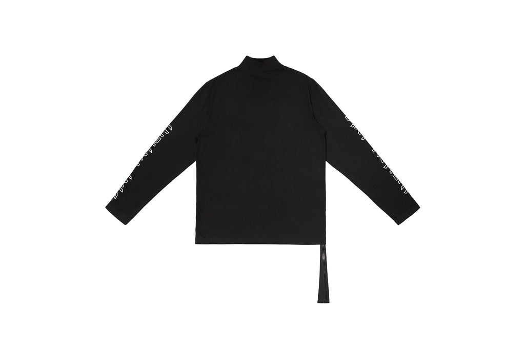XPX 'STAY PATIENT' TURTLENECK BLACK LONG SLEEVE TEE