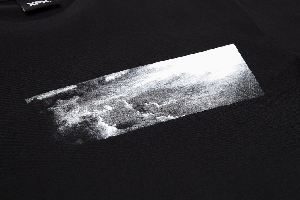 XPX MULTI PATCHWORK BLACK CREW NECK TEE