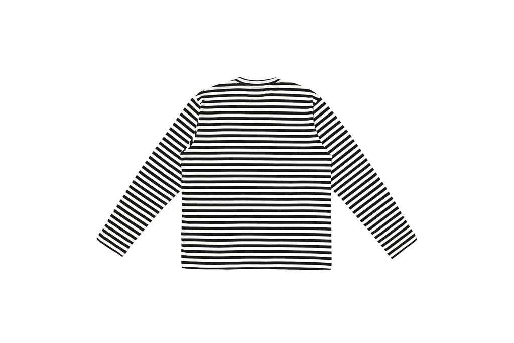 XPX STRIPED LONG TEE BLACK & WHITE