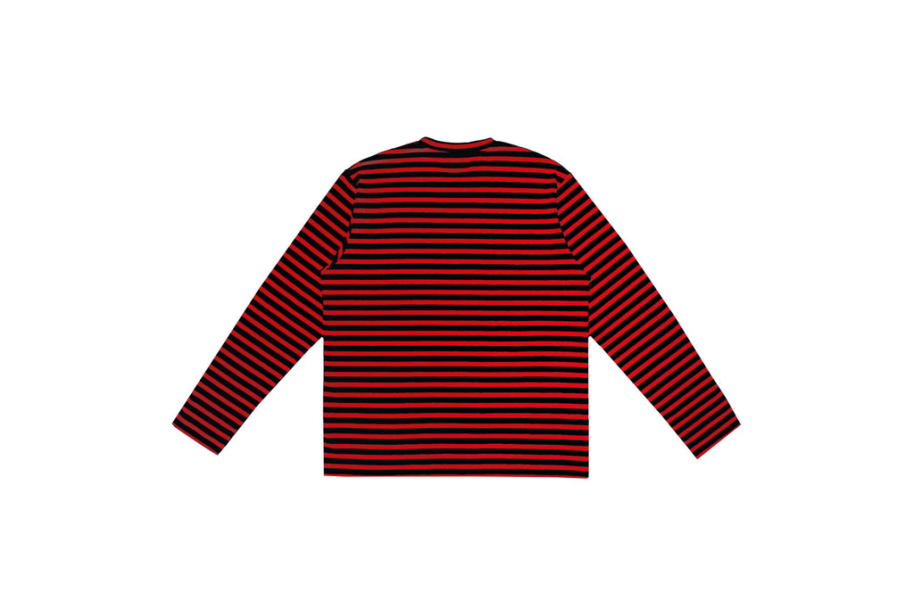 XPX STRIPED LONG TEE BLACK & RED
