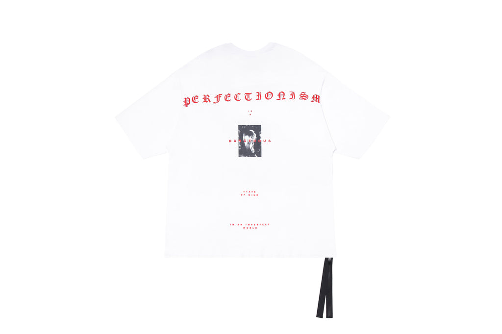 XPX 'PERFECTIONISM IS DANGEROUS' WHITE CREW NECK TEE