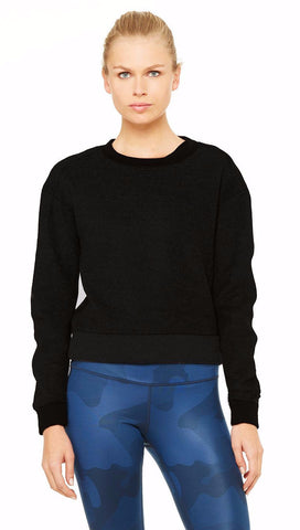 Alo Carve long sleeve top black