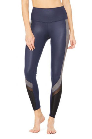 Alo Elevate legging rich navy glossy