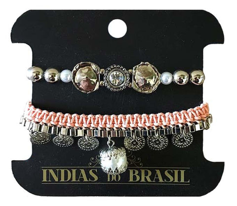 Mix de Pulseira Rose