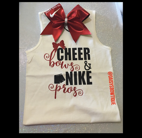 CHEER BOWS & NIKE PROS SET