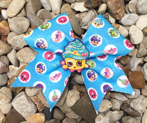 BLUE SHOPKINS BOW