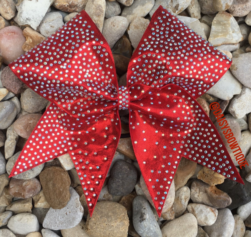 Red fade bling bow