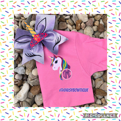 Unicorn monogram set