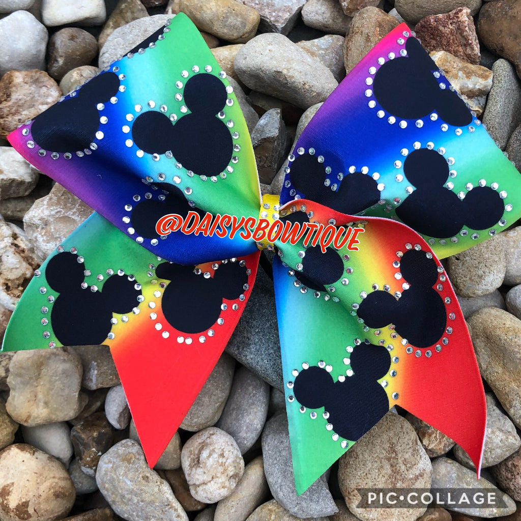 Rainbow mickey bow
